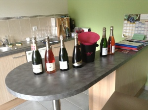 The tasting line-up.